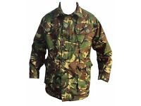 LARGE LINED CAMO ARMY JACKET & LARGE LIGHTWEIGHT SUMMER JACKET