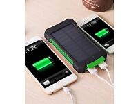 Portable Waterproof Solar Power Bank 10000mah Dual-USB Solar Battery Charger powerbank for all Phone