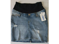 H&M denim maternity skirt - NEW - size 8