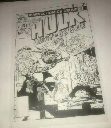Incredible Hulk Crime Circus Marvel Astonish Cover Production Art Acetate rare