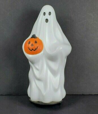 Vintage 9 Inch 1995 Empire Mini Ghost Holding Pumpkin Halloween Blow Mold