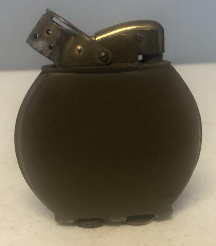 Vintage 1930s 1940s US WW2 Evans Spitfire Brass Lighter