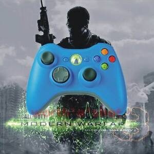 Xbox-360-Rapid-Fire-Modded-Blue-Controller-12-Mode-Drop-Shot-New
