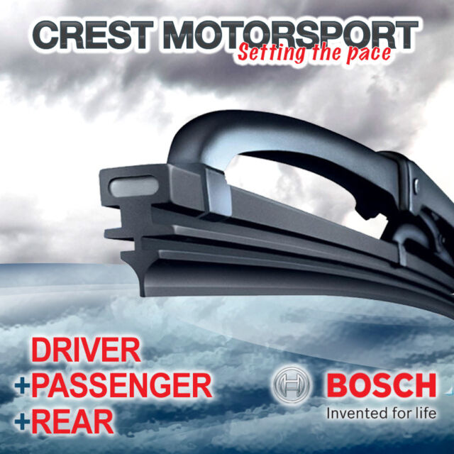 "BOSCH Super Plus Front Driver/Passenger & Rear Windscreen Wiper Blades 18/18/16"""