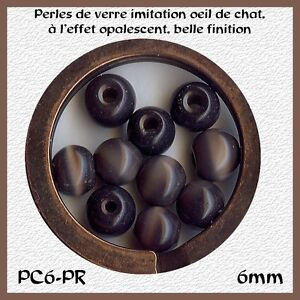 PC6-PR-40-PERLES-RONDES-OEIL-DE-CHAT-6MM-PRUNE-x40