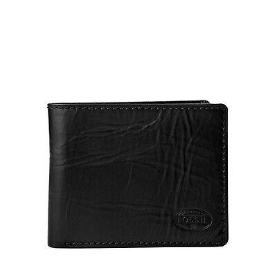 Fossil Men's Norton Traveler Black Wallets Ml3170001