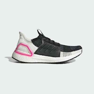 Adidas Ultraboost 19 Women's Trainers Running Gym Black Pink 8.5 RRP £160 NEW