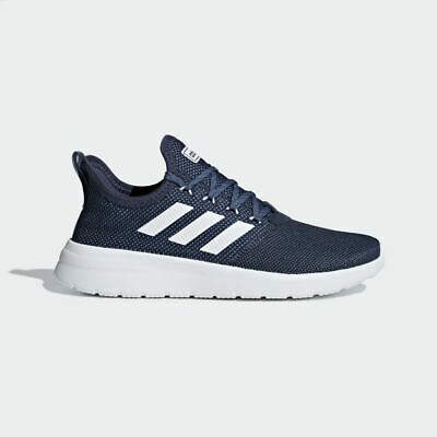 Mens Adidas Lite Racer Navy/White Trainers (CMF12) RRP £54.99