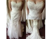 Victoria Kay Lace Ivory Gown Current collection