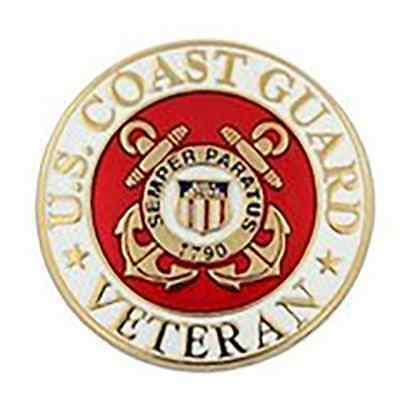 US Coast Guard Veteran XLG 1.5 inch Pin