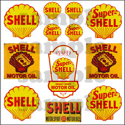 Ho Scale Flags (SHELL 1:87 HO SCALE BUILDING GASOLINE OIL GAS STATION SIGNS DECALS FREE FLAG )