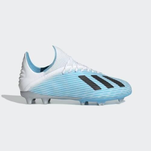 Adidas X 19.1 Fg J Kids Firm Ground Soccer Cleats F35684 Bright Cyan/Black NEW!