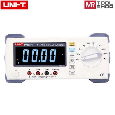 Uni-t Ut8803n Bench Top Digital Multimeter Auto T-rms Dmm Temp Tester Ebtn Lcd