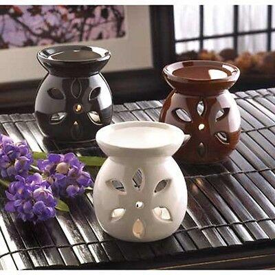 3 bulk SMALL black white brown ceramic Wax tart Oil warmer B