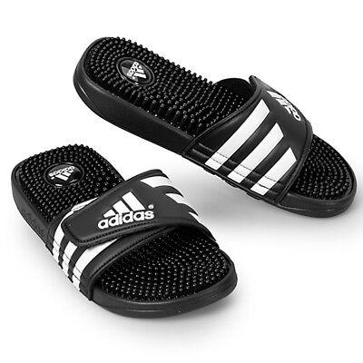 Adidas Mens Adissage Sliders Black Slip On Slides Sandal