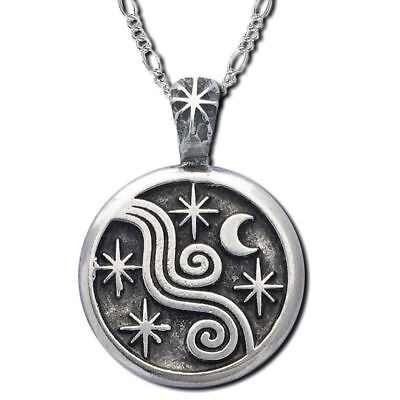 *NIGHTTIME* Sun Moon Star Limited Series Pendant Necklace Wiccan Pagan SM3