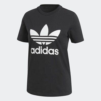 Women's adidas Trefoil T-Shirt Black/White [z] CV9888
