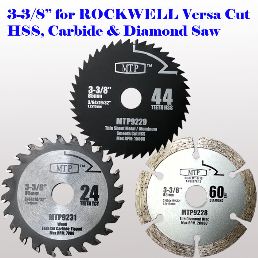 6x 3 3 8 Inch Carbide Tip Saw Blade For Rockwell Versacut