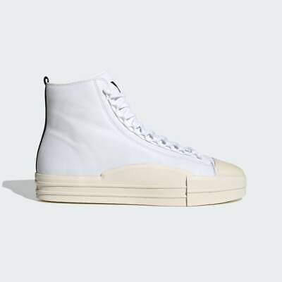 Adidas Y-3 Yuben Mid Mens Casual Leather Sneakers White/Black/Ecru FX0567 Sz 12