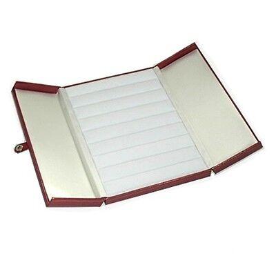 1 Red Double Door 8 Row Ring Display Box Jewelry Organizer