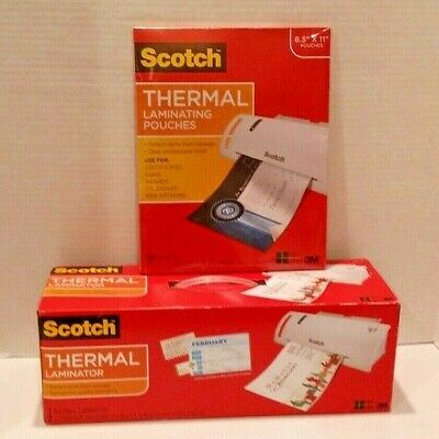 Scotch Thermal Laminator Laminating Machine 2 Roller System Tl902 W50 Pouches