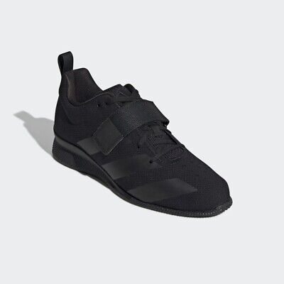 Adidas Adipower 2 Weightlifting Shoes Trainers Triple Black Size UK 10