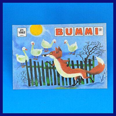 DDR Bummi 21/1982 ▶ 1. Novemberheft  Kinderzeitschrift Geburtstag November