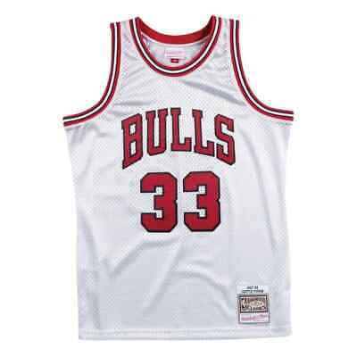Mitchell & Ness Platinum NBA Jersey Chicago Bulls #33 Pippen Silver Collection
