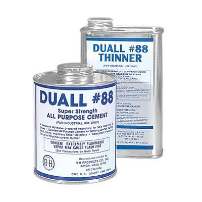 32 Oz Duall-88 Shoe Repair Cement And Quart All Purpose Cement Thinner