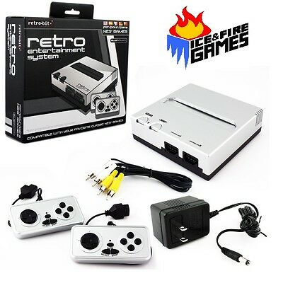 New Retro Entertainment System   8 Bit Nintendo Nes Game Player   Silver