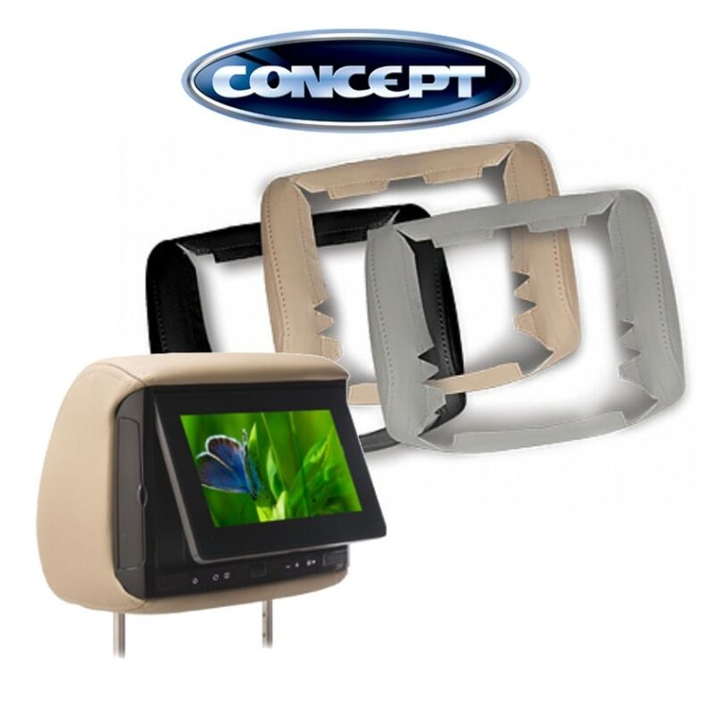 """Concept BSS-705  7"""" LCD Headrest Monitors, 3 Color Covers"""
