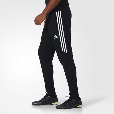Small Mens Pants - Adidas Tiro 17 Men's Pants NEW Size SMALL Soccer Black / White / White BS3693