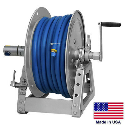 Pressure Washer Sprayer Manual Hose Reel - 125 Ft 38 Or 75 Ft 12 Id Hose