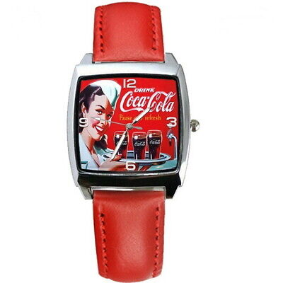 NEW Coca Cola Girl Coke Watch Red Band Men's or Women's FREE SHIPPING ! ! !