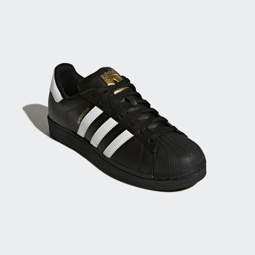 buy online f58c5 7f7c0 Adidas Superstar Unisex Men's Women's BLACK FOUNDATION Trainers Shoes