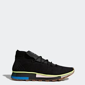 ADIDAS ORIGINALS BY ALEXANDER WANG RUN SHOES - Core Black/Solar Yellow - Size 9