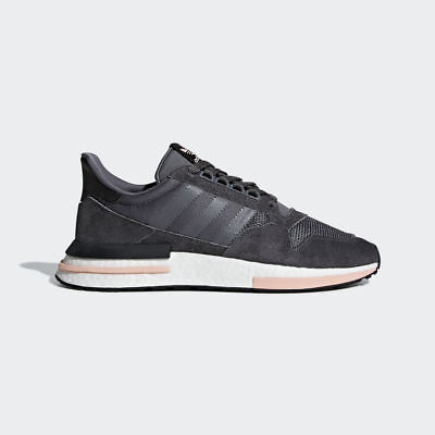 Adidas Originals ZX 500 Rm Boost Men Grey Clear Orange Lifestyle Sneakers B42217