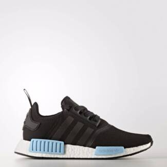 Adidas Women Originals NMD R1 Sneakers (Core Black/Icey Blue)