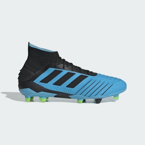 Adidas Predator 19.1 Fg Mens Firm Ground Soccer Cleats Bright Cyan/Black F35606