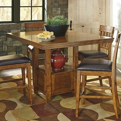 Ashley Signature Design Ralene Counter Height Dining Table In Medium Brown New