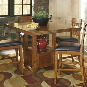 ashley signature design ralene counter height dining table in medium brown new - Counter Height Kitchen Table