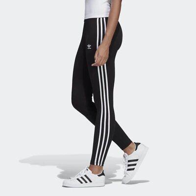 Women's Adidas Originals 3-Stripes Leggings Black [z] CE2441 (Striped Leggings)