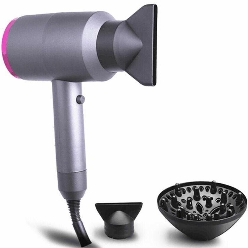 1800W Negative Ionic AC Motor 2-Speed Hot Cold Hair Blow Dryer Salon Quality Hair Care & Styling