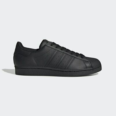 NEW Adidas Superstar Foundation Mens Classic Sneakers All Black SZ 8 & 12 covid 19 (Adidas Superstar Classic coronavirus)