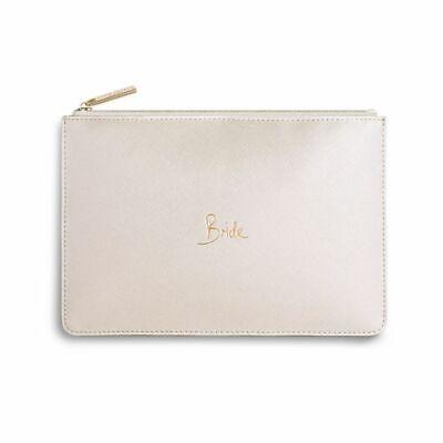 NEW Katie Loxton Bride vegan ivory perfect pouch clutch bag handbag wedding gift