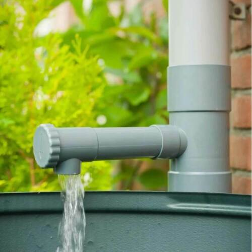 Regensammler Wassersammler Fallrohfilter Regenauffänger 80mm in Grau Wasserdieb