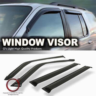 GMC Envoy/Chevy Trailblazer Smoke Window Vent Sun Shade Rain Guard Side -