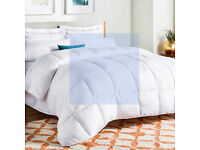 Hollowfibre king sized quilted duvet, 13.5 TOG, hardly used