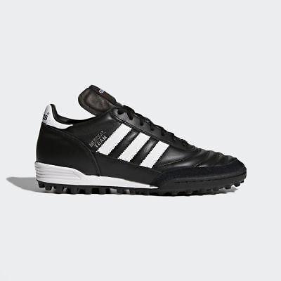 Adidas Mundial Team Men's Leather Black Soccer Shoes Cleats Futsal - 019228