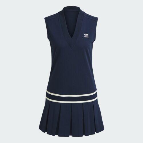 adidas Tennis Luxe Tennis Dress Navy Off White H56444 Women